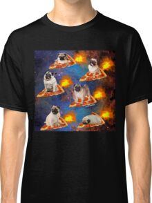 Pugs in Space Riding Pizza Classic T-Shirt