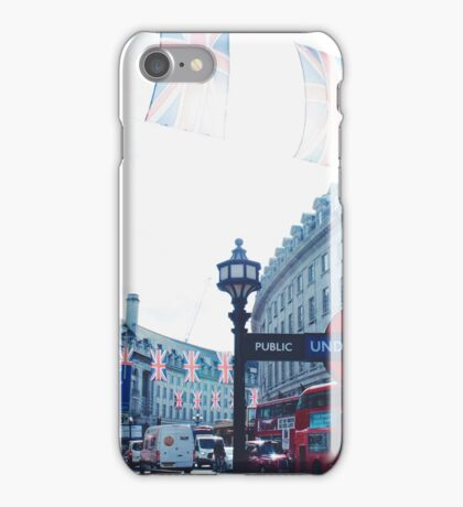 Regent street at mid-day iPhone Case/Skin