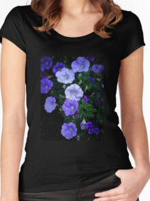 Blue Glory - Cheery Blue Blossoms Women's Fitted Scoop T-Shirt