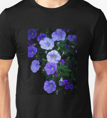 Blue Glory - Cheery Blue Blossoms Unisex T-Shirt