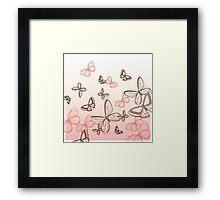 Hand painted Butterflies  Framed Print