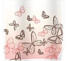 Hand painted Butterflies  Poster