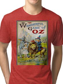 OZ; Vintage Game Advertising Print Tri-blend T-Shirt