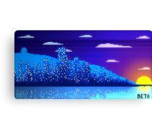 Pixel Skyline Canvas Print
