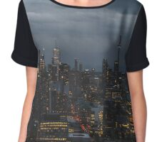 Toronto Skyline Chiffon Top