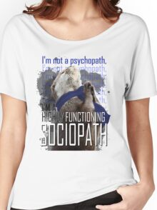 Otter Sherlock I'm a high functioning sociopath Women's Relaxed Fit T-Shirt