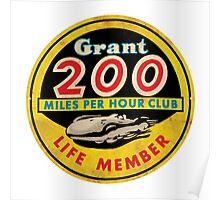 Grant 200 MPH Club Poster
