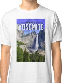 Travel Yosemite Vintage Travel Poster Classic T-Shirt