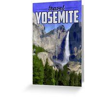 Travel Yosemite Vintage Travel Poster Greeting Card