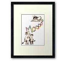 The Cows Often Mooed, When in a Good Mood Framed Print