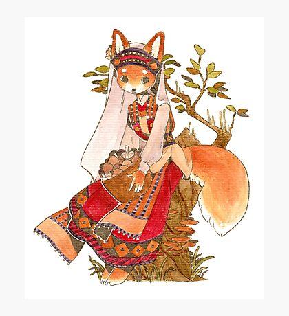 Fox Bride Photographic Print