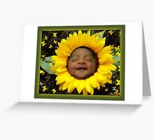 YOU ARE MY SUNSHINE - BABY IN SUNFLOWER JUST FOR SHOW Greeting Card