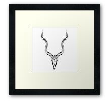 Animal Skull Line Art Graphic Framed Print