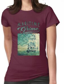 Briney Ocean Tossed Womens Fitted T-Shirt
