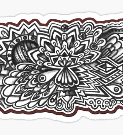 Abstract Dimensions (Black and White) Design 033 Sticker