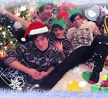 Foursome Twister~ A Christmas Card by Flamespitter