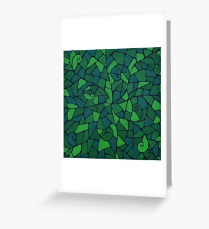 Cellular Life Spirals Greeting Card
