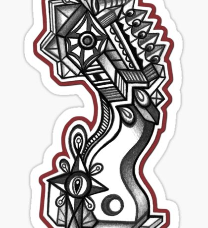 Abstract Dimensions (Black and White) Design 038 Sticker