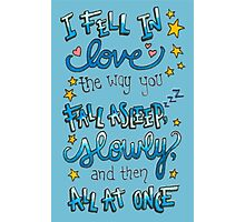 Fell In Love Photographic Print