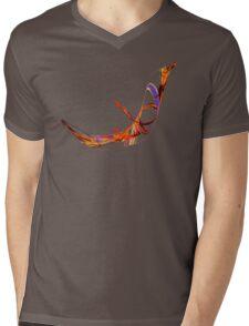 Fractal - Flying Swan Mens V-Neck T-Shirt