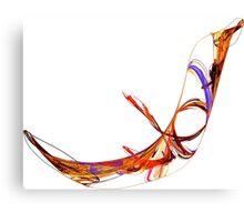 Fractal - Flying Swan Canvas Print