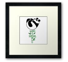Balance Is Everything! Tumbling panda. Framed Print