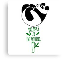 Balance Is Everything! Tumbling panda. Canvas Print