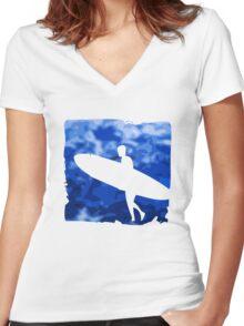 Surf  Women's Fitted V-Neck T-Shirt