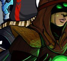 Roguish Commander and Creepy Sidekick Sticker