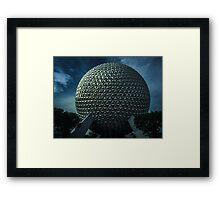 Epcot Spaceship Earth Framed Print