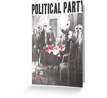 Political Party Shades & Red Cups Greeting Card
