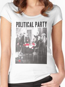 Political Party Shades & Red Cups Women's Fitted Scoop T-Shirt