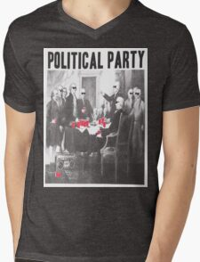 Political Party Shades & Red Cups Mens V-Neck T-Shirt