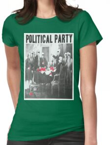 Political Party Shades & Red Cups Womens Fitted T-Shirt