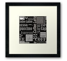 Abstract pattern . Coffee . Framed Print