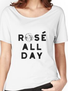 Rose all day_Pink Women's Relaxed Fit T-Shirt