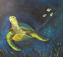 ENDANGERED SPECIES - THE GREEN SEA TURTLE by Lena's Creations