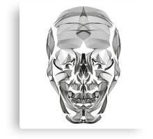 Human Skull Line Art Illustration Canvas Print