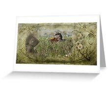 Crab Grass Nap Greeting Card