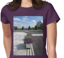 Pretty-in-Purple Flower Displays Womens Fitted T-Shirt