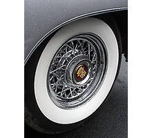 White Wall Wheel Photographic Print