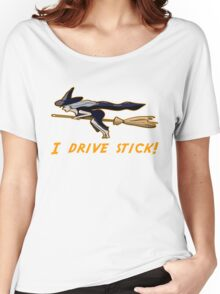I Drive Stick Witch on a Broomstick Women's Relaxed Fit T-Shirt