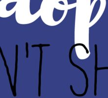 Adopt Don't Shop - Navy Sticker