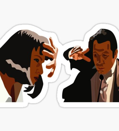 Pulp Fiction Sticker Sticker