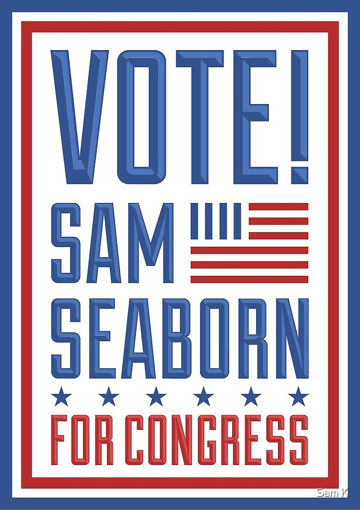 Sam Seaborn For Congress by Sam K