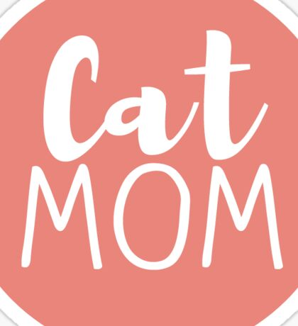Cat Mom - Coral Sticker