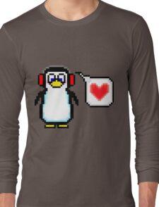 Valentine Penguin Long Sleeve T-Shirt