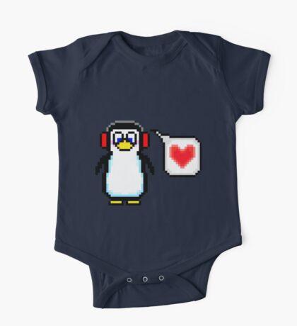 Valentine Penguin One Piece - Short Sleeve