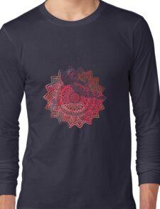Mandala red Long Sleeve T-Shirt