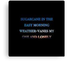 Sugarcane - Black Background Canvas Print